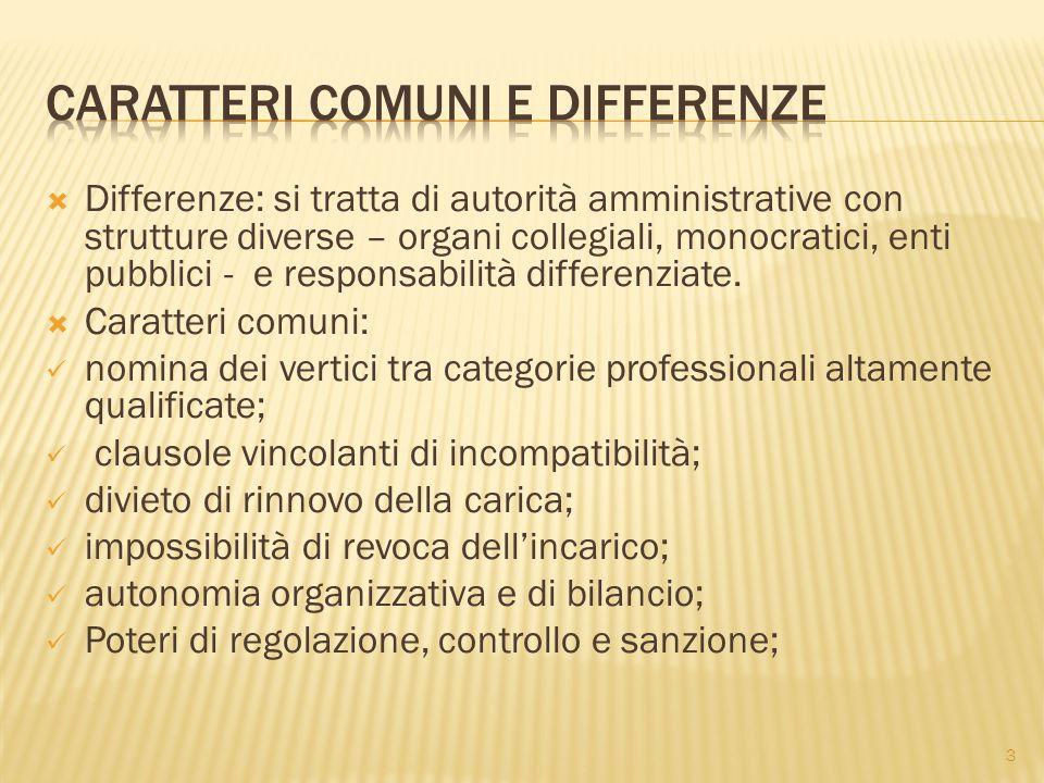 Caratteri comuni e differenze