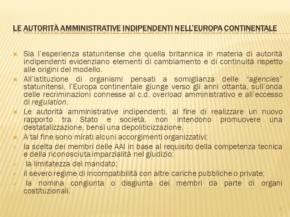 Le Autorità amministrative indipendenti nell'Europa continentale