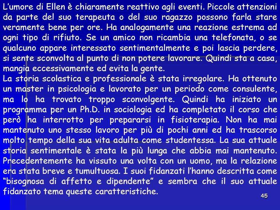 L'umore di Ellen è chiaramente reattivo agli eventi