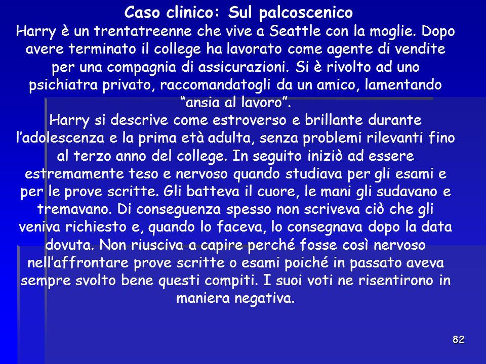 Caso clinico: Sul palcoscenico