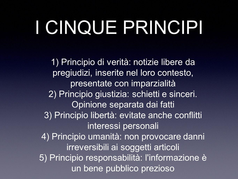 3) Principio libertà: evitate anche conflitti interessi personali