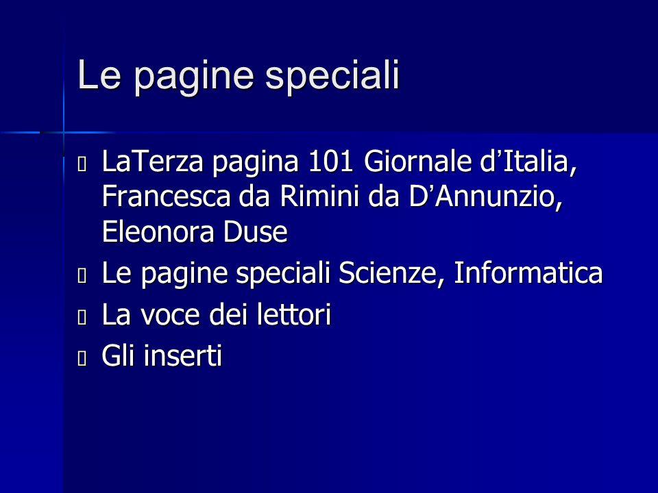 Le pagine speciali LaTerza pagina 101 Giornale d'Italia, Francesca da Rimini da D'Annunzio, Eleonora Duse.