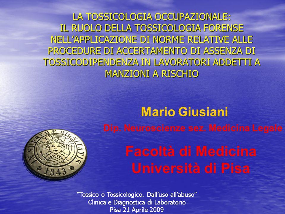 Facoltà di Medicina Università di Pisa