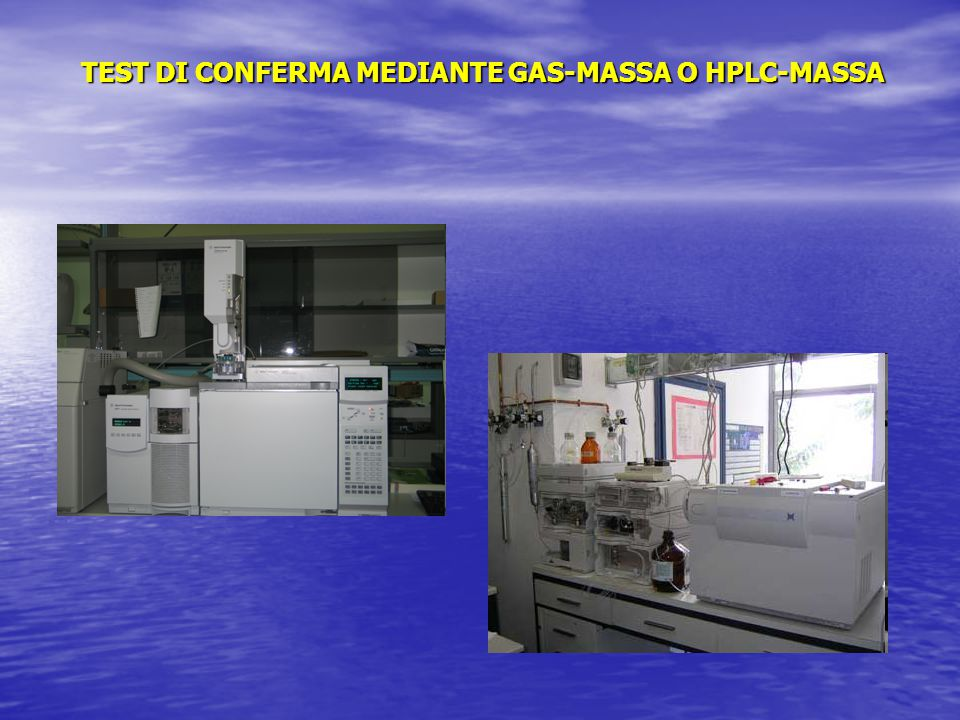 TEST DI CONFERMA MEDIANTE GAS-MASSA O HPLC-MASSA
