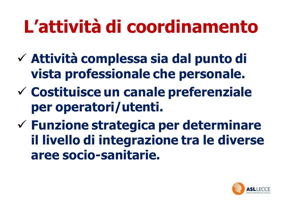 L'attività di coordinamento