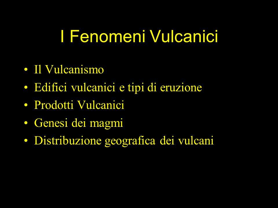 I Fenomeni Vulcanici Il Vulcanismo
