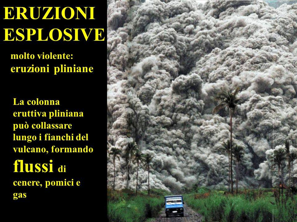 ERUZIONI ESPLOSIVE molto violente: eruzioni pliniane
