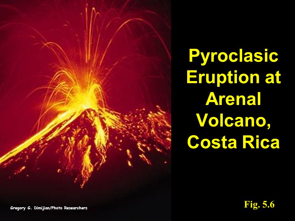 Pyroclasic Eruption at Arenal Volcano, Costa Rica