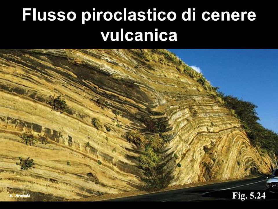 Flusso piroclastico di cenere vulcanica