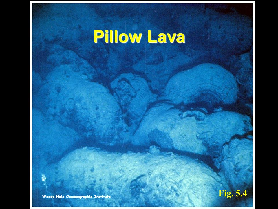 Pillow Lava Fig. 5.4 Woods Hole Oceanographic Institute