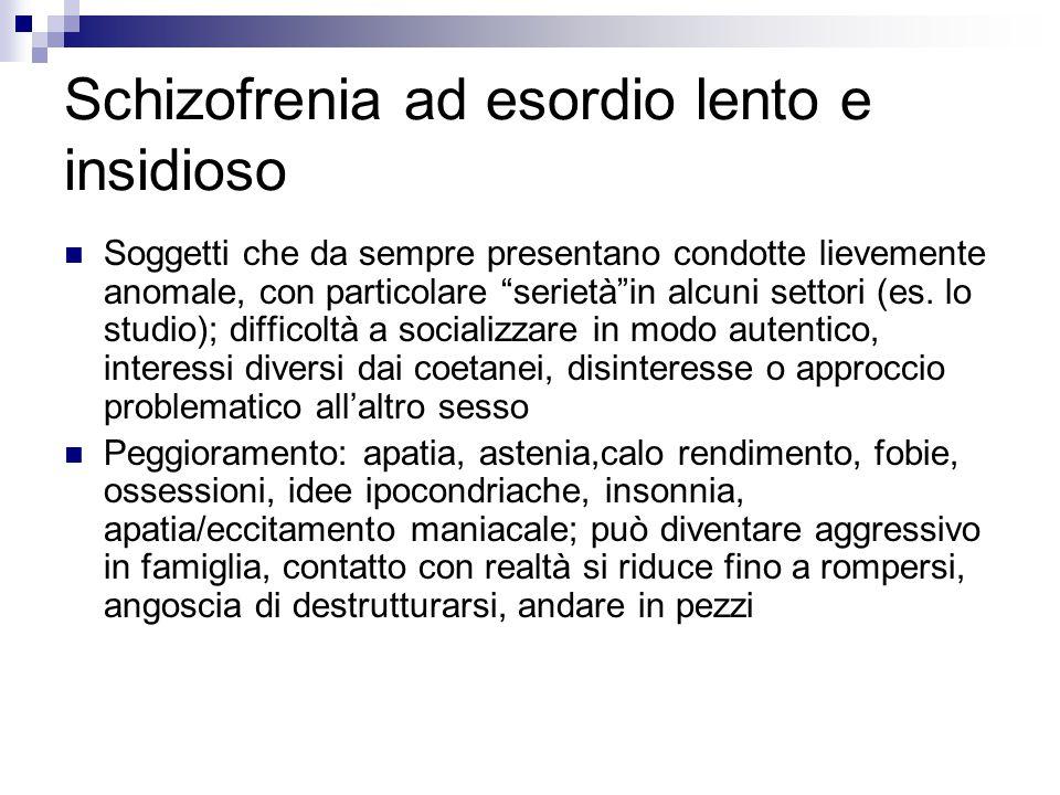 Schizofrenia ad esordio lento e insidioso