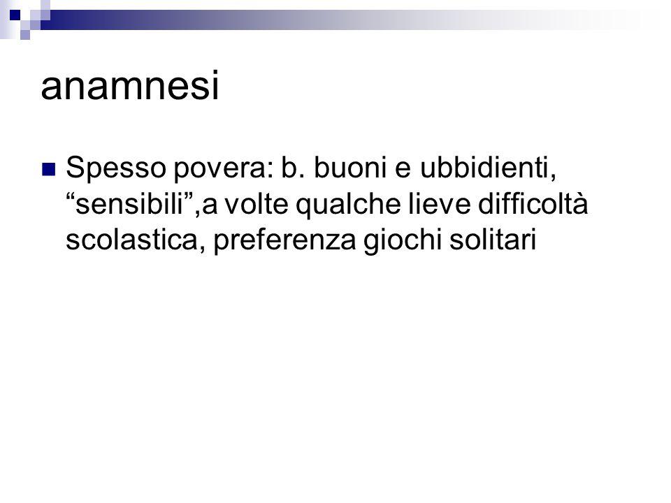 anamnesi Spesso povera: b.