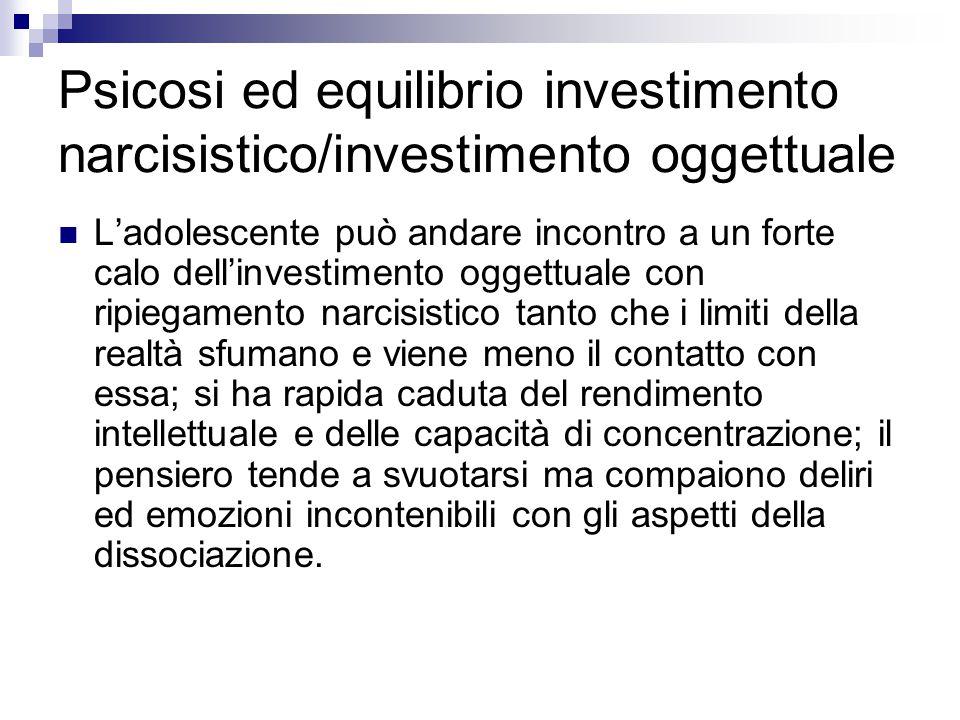 Psicosi ed equilibrio investimento narcisistico/investimento oggettuale