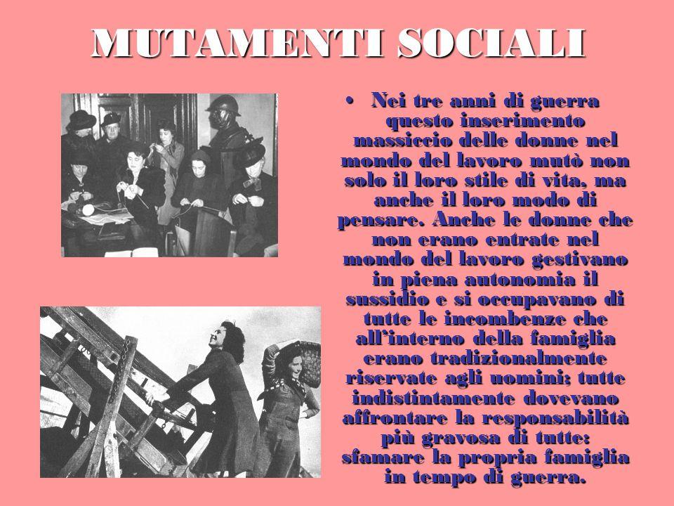 MUTAMENTI SOCIALI