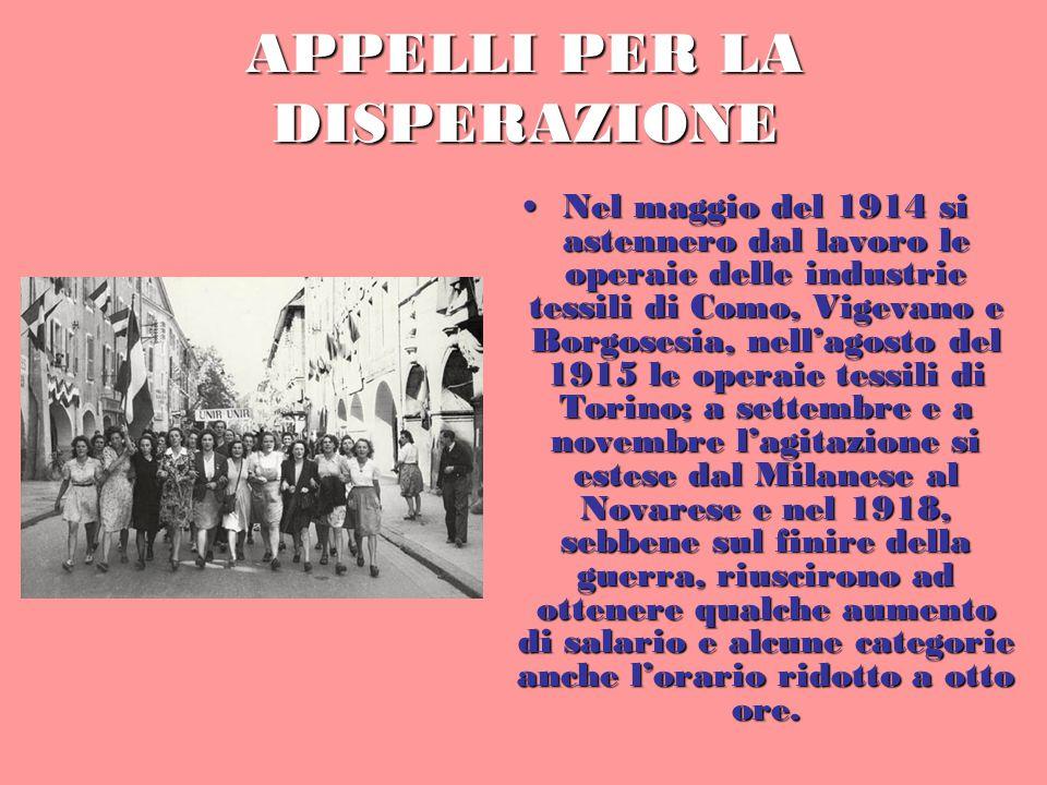 APPELLI PER LA DISPERAZIONE