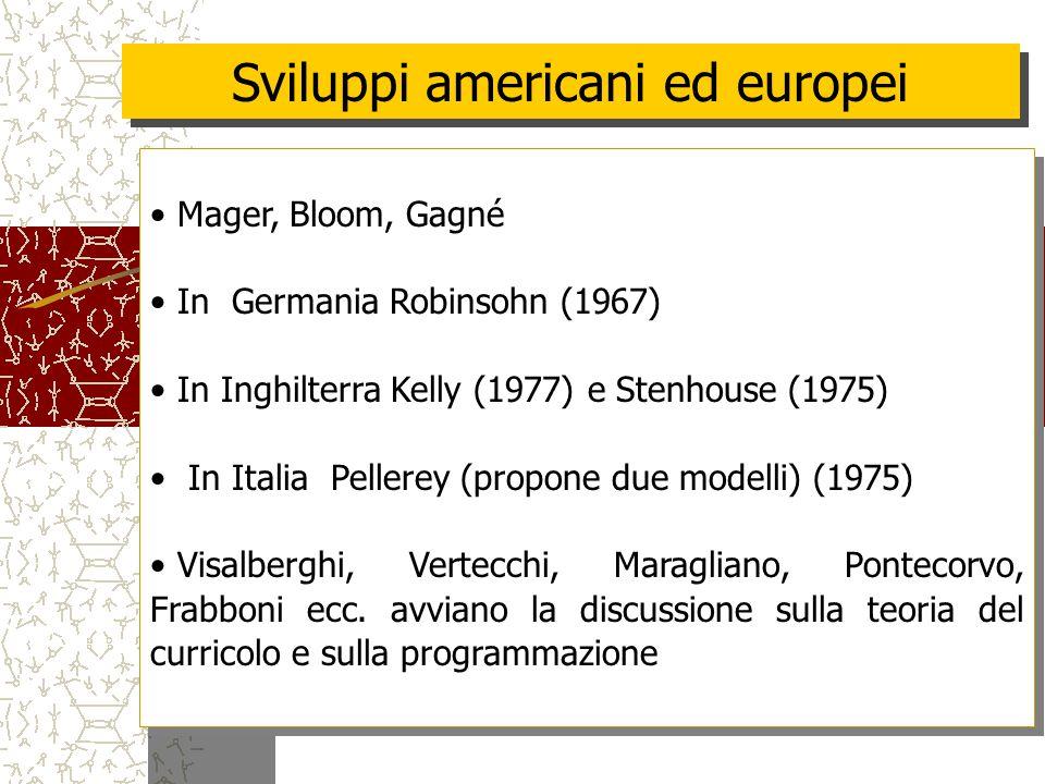 Sviluppi americani ed europei