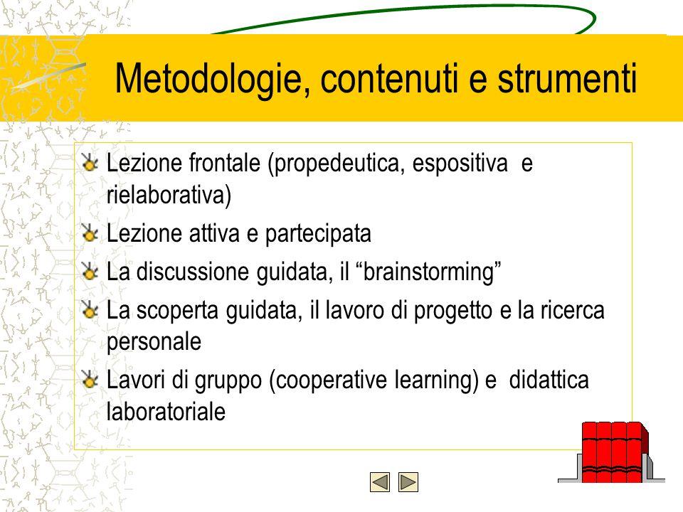 Metodologie, contenuti e strumenti