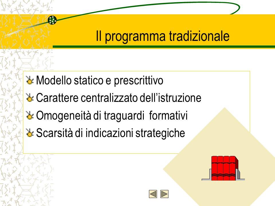 Il programma tradizionale