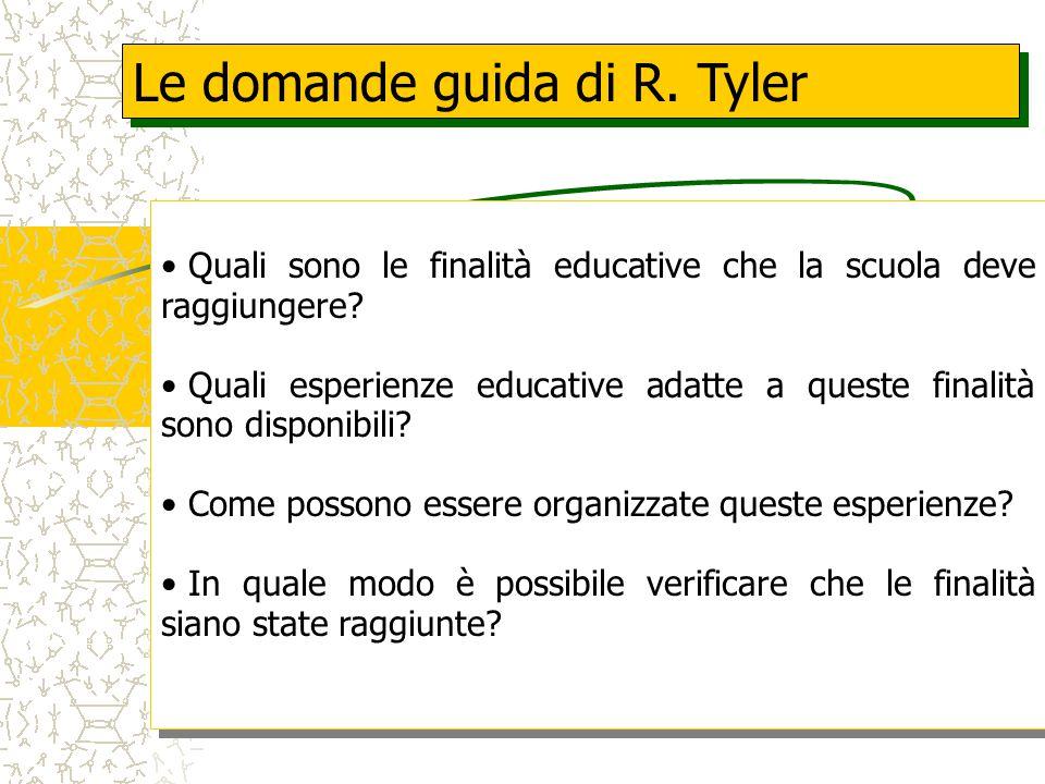 Le domande guida di R. Tyler