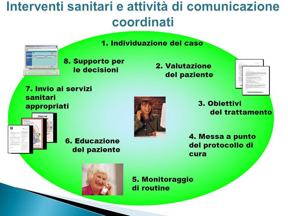 Interventi sanitari e attività di comunicazione coordinati