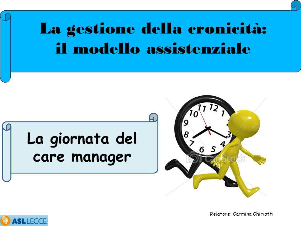 La gestione della cronicità: il modello assistenziale