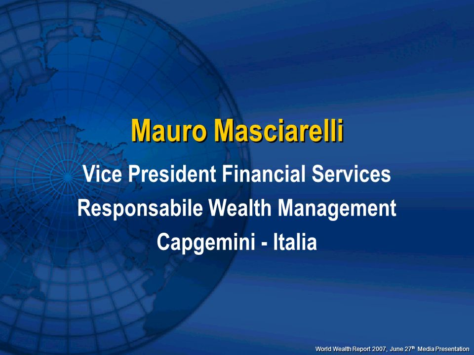 Vice President Financial Services Responsabile Wealth Management