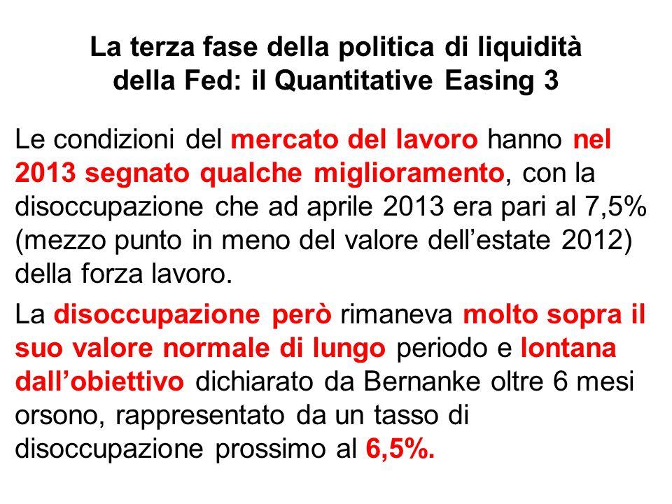 La terza fase della politica di liquidità della Fed: il Quantitative Easing 3