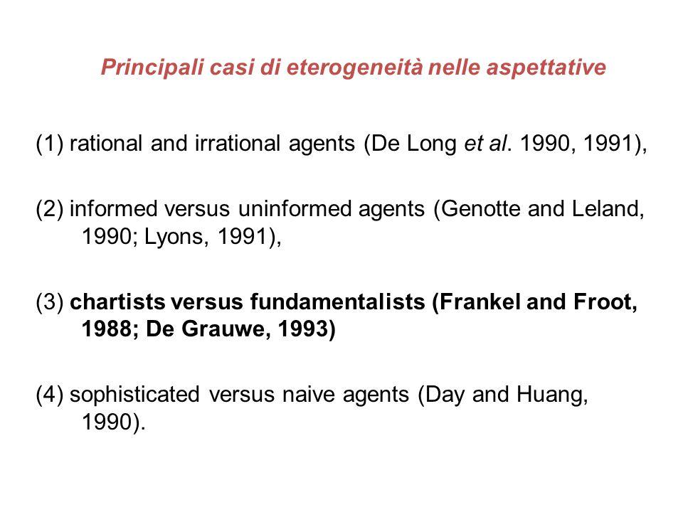 Principali casi di eterogeneità nelle aspettative