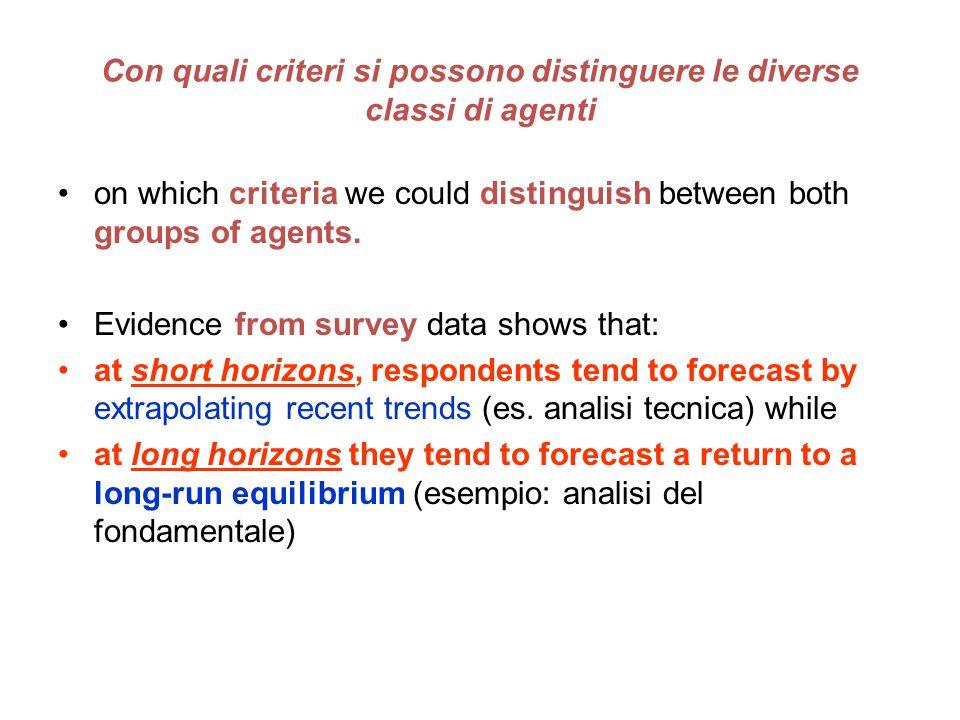 Con quali criteri si possono distinguere le diverse classi di agenti