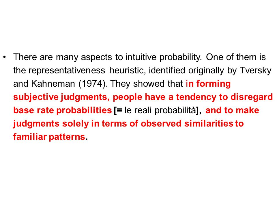 There are many aspects to intuitive probability