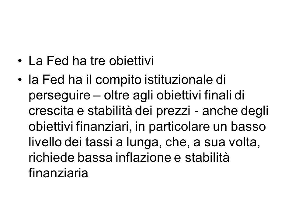 La Fed ha tre obiettivi