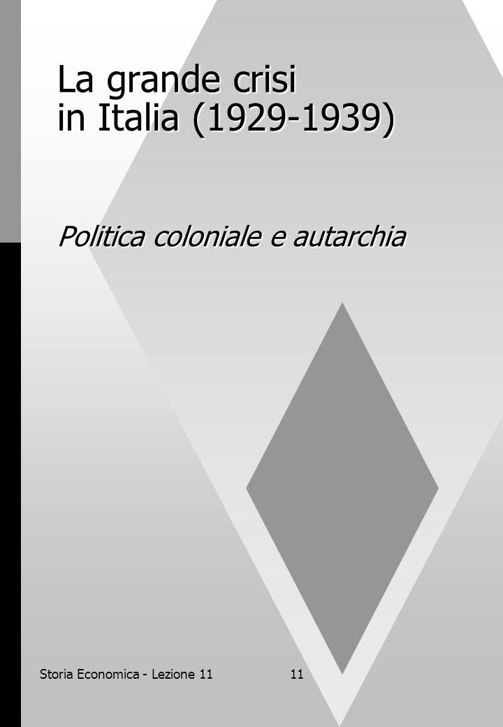 La grande crisi in Italia (1929-1939)
