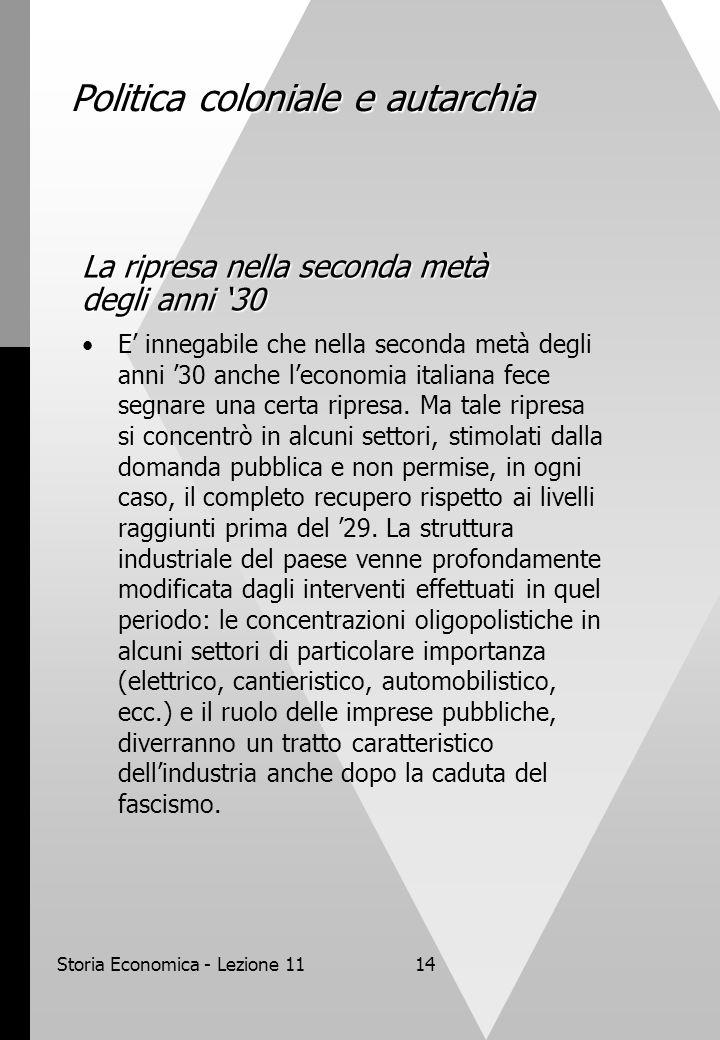 Storia economica corso anno accademico seconda parte for Struttura politica italiana