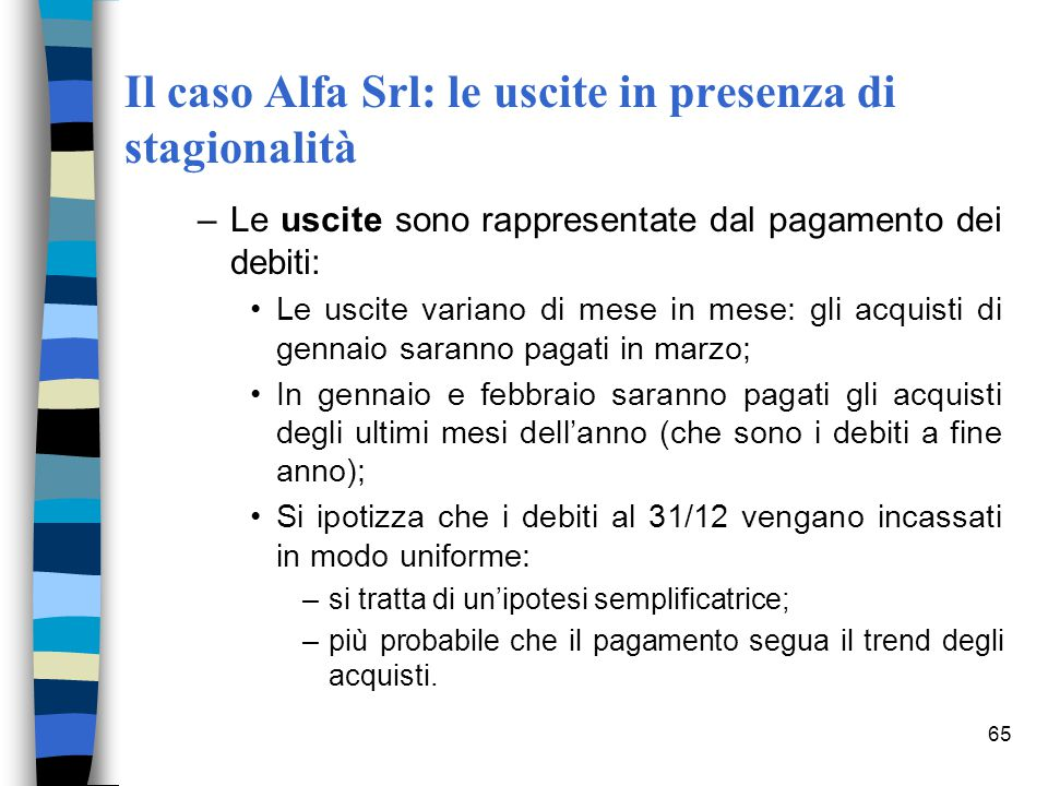Il caso Alfa Srl: le uscite in presenza di stagionalità