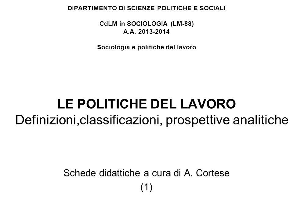 Schede didattiche a cura di A. Cortese