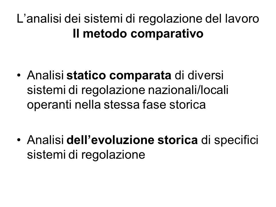 L'analisi dei sistemi di regolazione del lavoro Il metodo comparativo