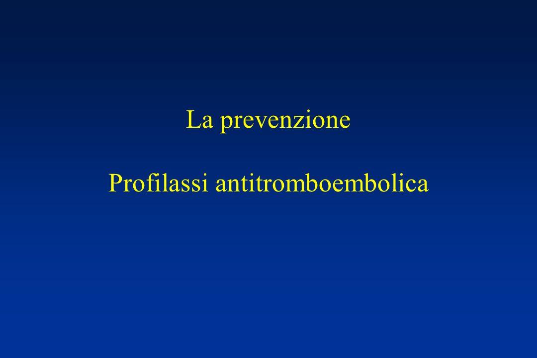 La prevenzione Profilassi antitromboembolica