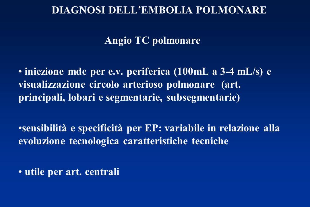 DIAGNOSI DELL'EMBOLIA POLMONARE