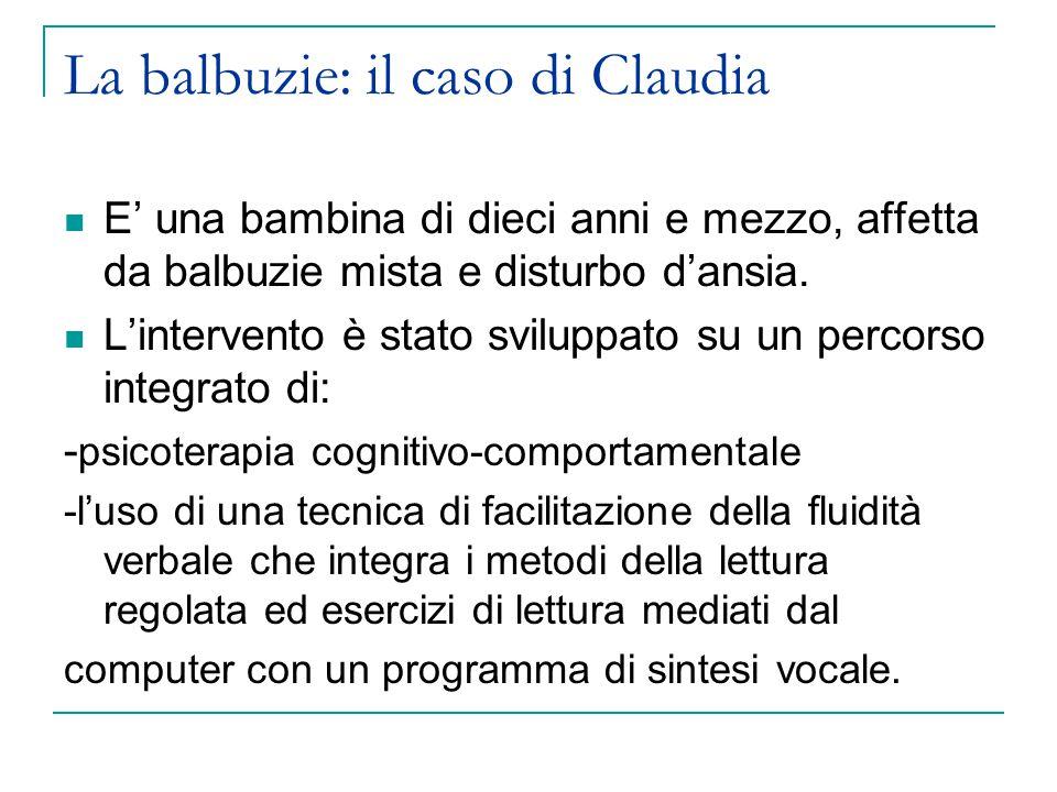 La balbuzie: il caso di Claudia