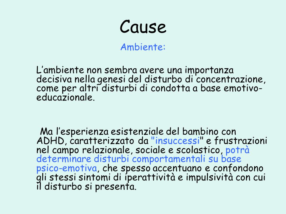 Cause Ambiente: