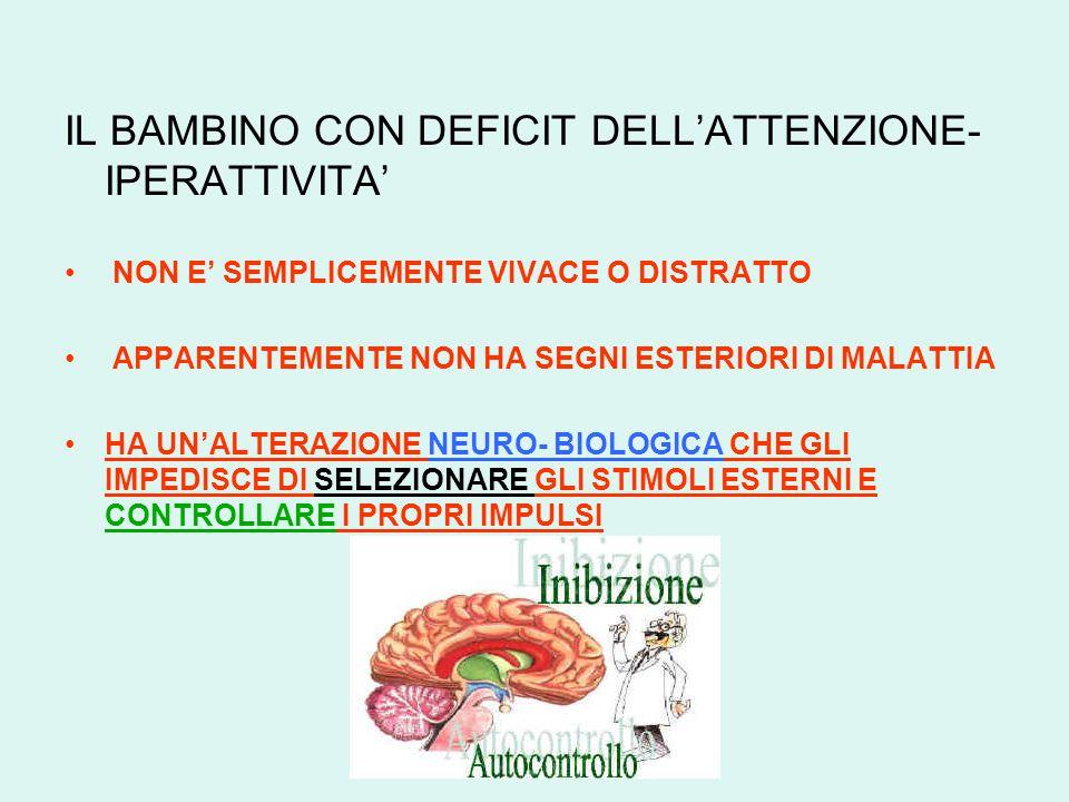 IL BAMBINO CON DEFICIT DELL'ATTENZIONE-IPERATTIVITA'