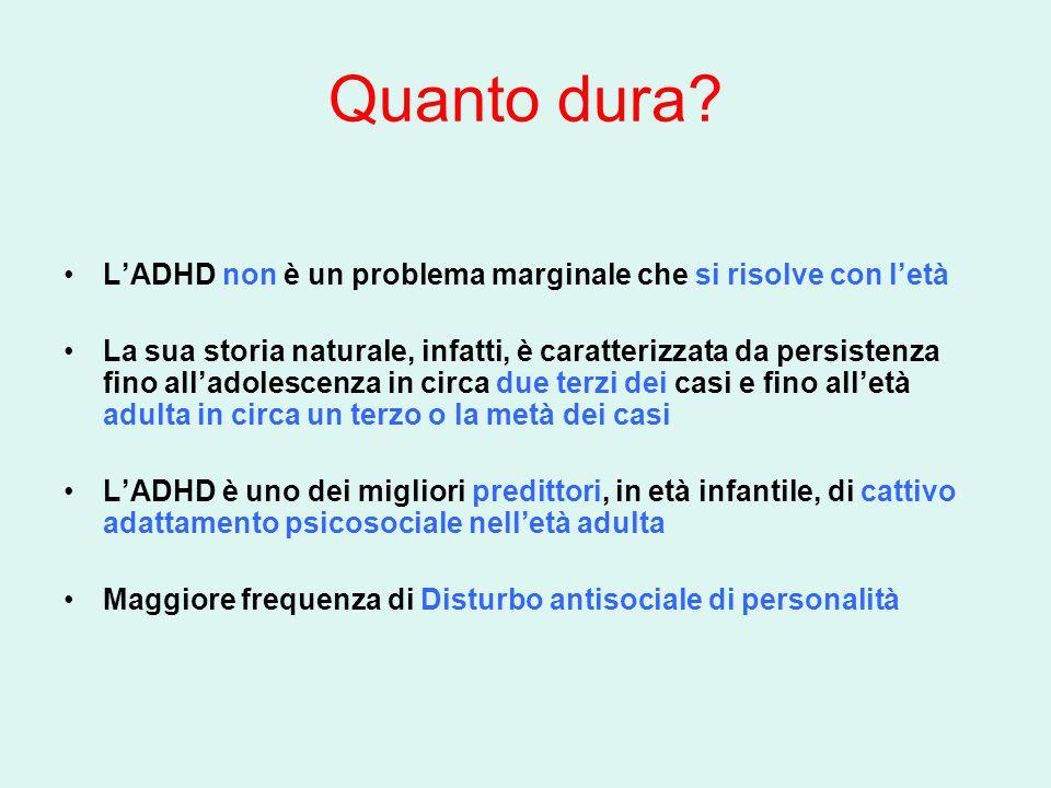 Quanto dura L'ADHD non è un problema marginale che si risolve con l'età.