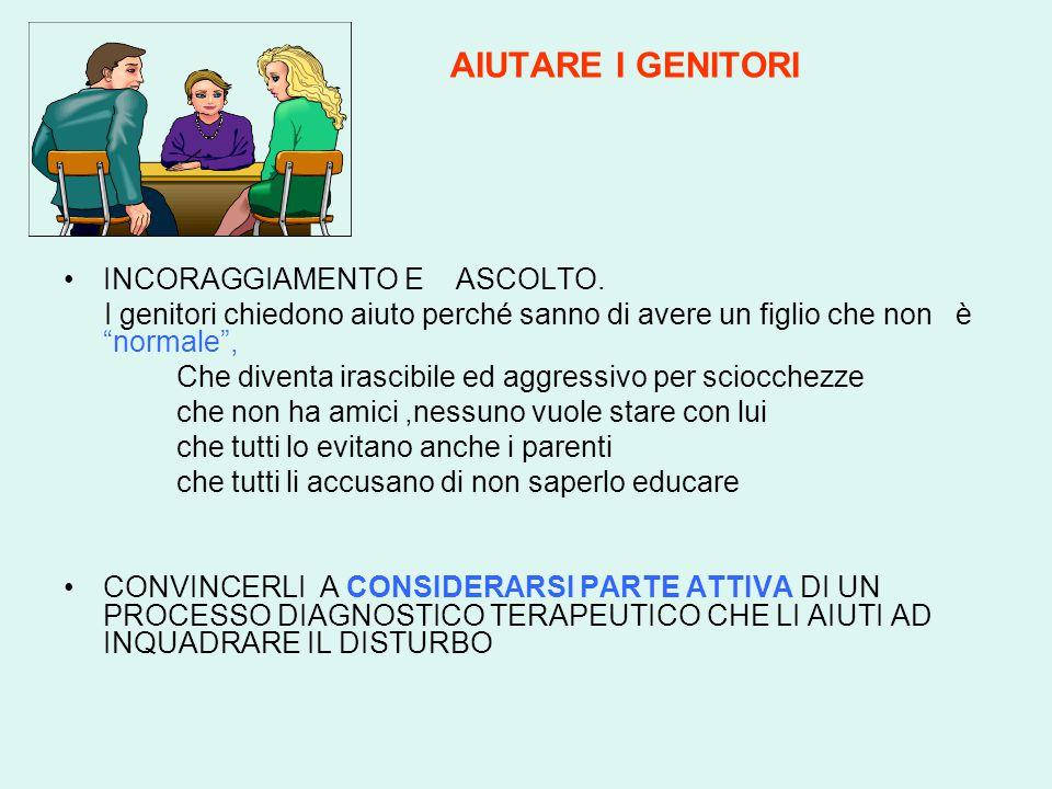 AIUTARE I GENITORI INCORAGGIAMENTO E ASCOLTO.