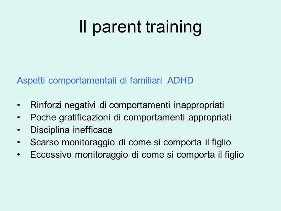 Il parent training Aspetti comportamentali di familiari ADHD