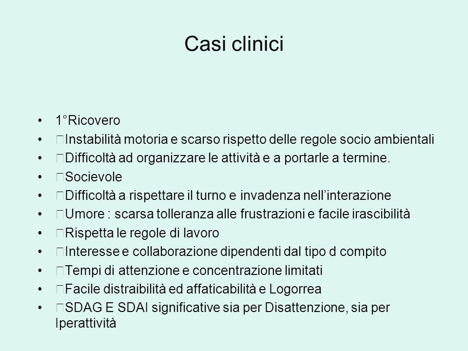 Casi clinici 1°Ricovero