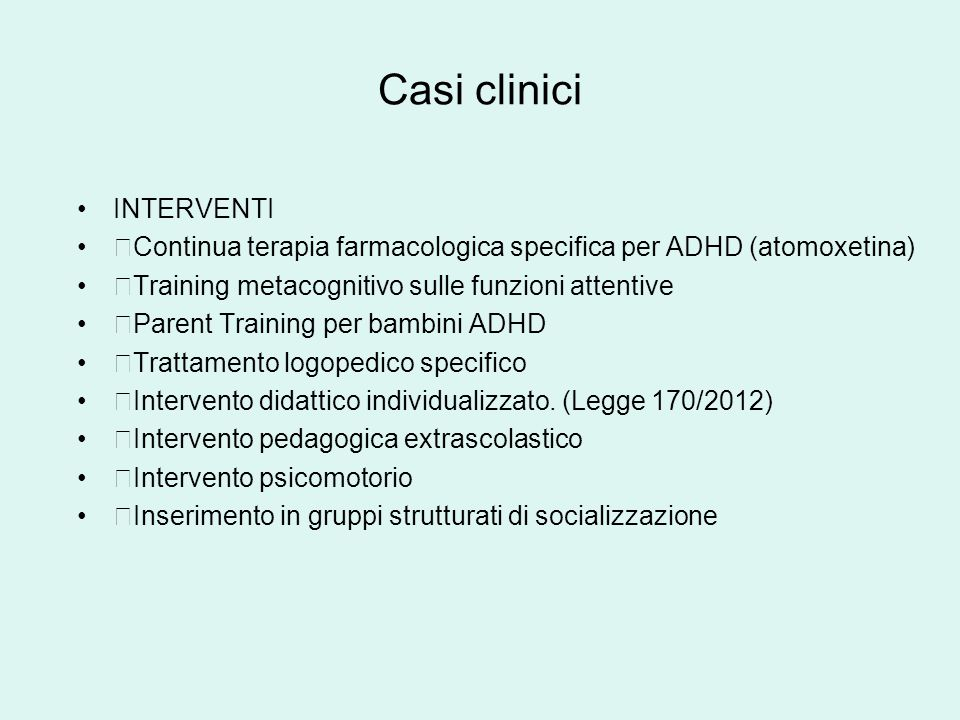 Casi clinici INTERVENTI