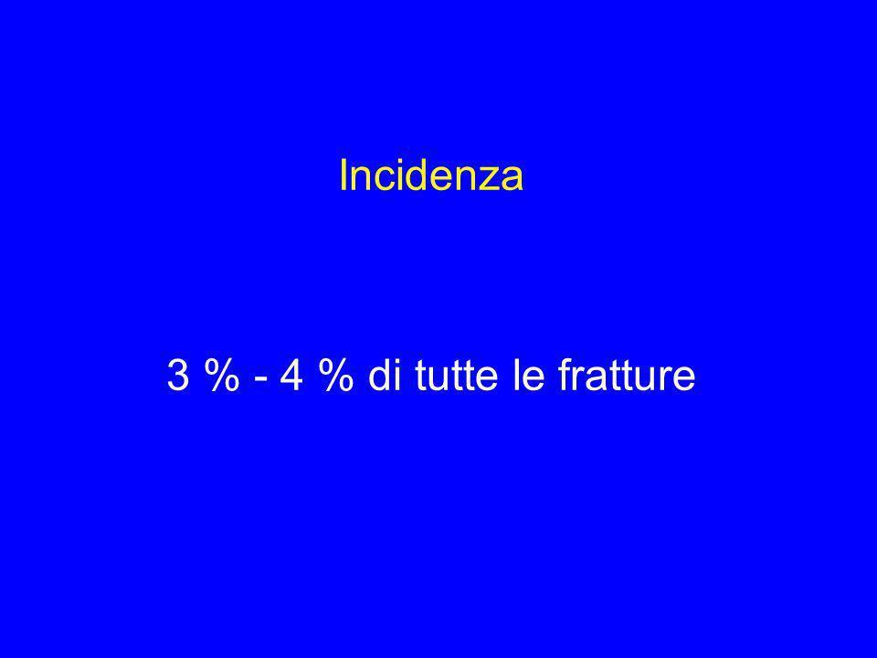 3 % - 4 % di tutte le fratture