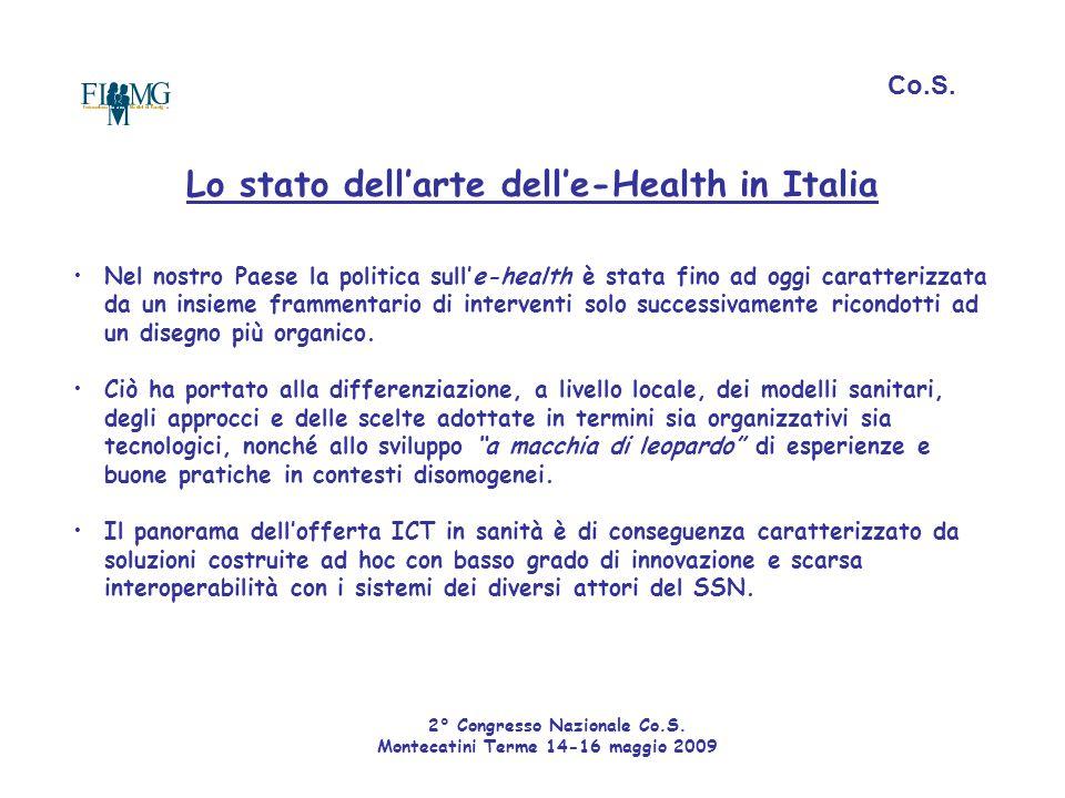 Lo stato dell'arte dell'e-Health in Italia