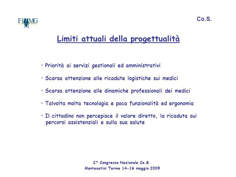 Co.S. Limiti attuali della progettualità