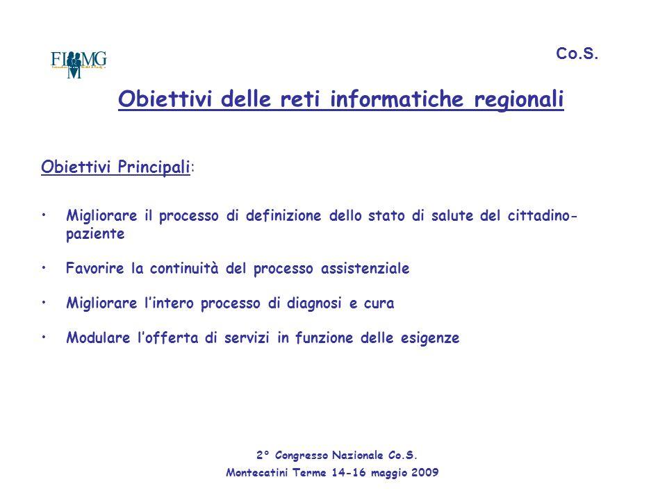 Obiettivi delle reti informatiche regionali